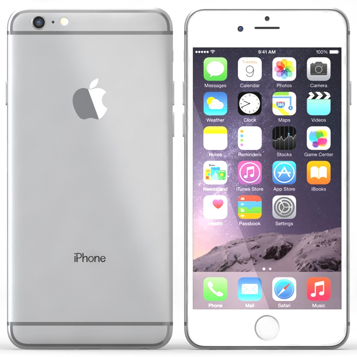 Apple iPhone 6 Plus 64Gb Silver (Skatloga modelis)