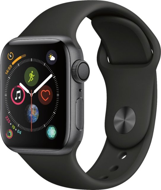 Apple Watch Series 4 GPS Cell 40mm Grey Aluminum Case Sport Band Black