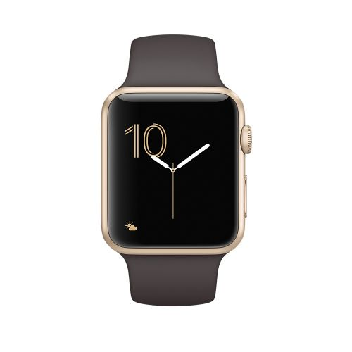 Apple Watch Series 2 42mm Aluminum Case Sport Band Gold/Brown